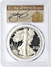 1989-S $1 Proof Silver Eagle PR70 PCGS Thomas Cleveland Art Deco