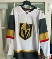 Adidas NHL Las Vegas Golden Knights Jersey Authentic Away White 252JA Size 50 M