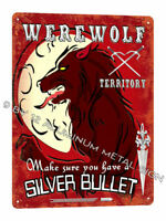 WEREWOLF Lycan horror METAL SIGN funny halloween haunted house Wall decor 734