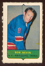 1969-70 OPC O-PEE-CHEE MINI 4 in 1 BOB NEVIN N Y RANGER EX+ STAMP Sticker CARD19