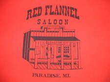 Red Flannel Saloon Shirt Paradise Michigan Upper Peninsula Mens XL