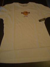 HRC Hard Rock Cafe Glyfada White Classic Logo Tee Size XL Woman Girl New NWT