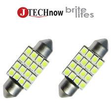 "2 x 36mm(1.50"") 16 SMD White LED Bulb 6411 6413 6418 C5W"