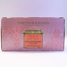 UK Fortnum and Mason Fortnum's Famous Tea Black Tea with Strawberry 25 Tea Bags