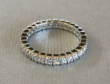 2.80 Ct Diamond Engagement Wedding Eternity Band 14K Solid White Gold Size L M N