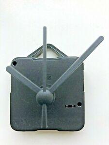 Clock Movement - Black Quartz Ticking Hands - AA Battery Powered - Mechanism UK