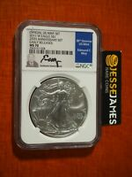 2011 W BURNISHED SILVER EAGLE NGC MS70 ER EDMUND MOY FROM 25TH ANNIVERSARY SET