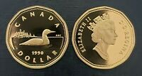 Canada 1990 Proof Gem UNC Loonie!!