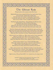 The Wiccan Rede Poem Harm None Do As Ye Will Parchment-Color Poster Print 8.5x11