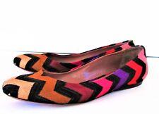 EUC MISSONI Zig Zag Textured Fabric Flats Shoes size 37.5 Italy