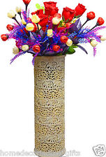 Marble Flower Vase Unique Elephant Floral Stoneware Hand Carved Design Gift H741
