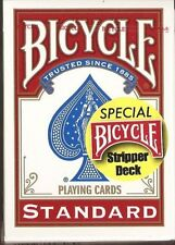 1 DECK Bicycle Stripper gaff magic red playing cards
