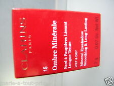 CLARINS OMBRE MINERALE FARD A PAUPIERE LISSANT MINERAL EYESHADOW 15 BLACK SPARKL