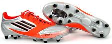 Adidas F50 ADIZERO XTRX SG LEA Fußballschuhe  Silber Orange Soccer Gr. 41 1/3