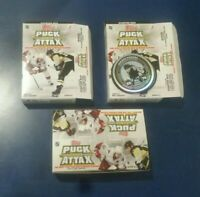 2009-10 Topps Puck Attax, 2 Open Starter Sets incl Crosby Foil+ 21 Packs NHL