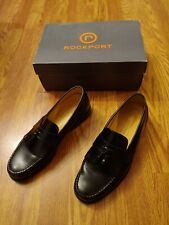 Rockport Loafers Genuine Black Leather Kiltie Tasseled Mens Size 9 M