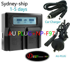 Dual Double AC Charger Sony NP-F570 F730 F730H F950/B F960 F970 Battery AU-ship