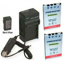 TWO 2 Batteries + Charger for Casio EX-Z4 EX-Z4U EX-Z5 EX-Z6 EX-Z7 EX-Z8 EX-Z11