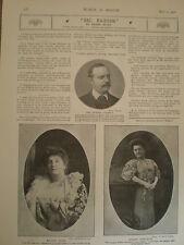 Printed photos opera divas Nellie Melba Luisa Tetrazzini 1908