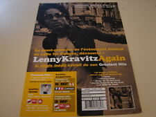 LENNY KRAVITZ SINGLE AGAIN!!!!!!!!RARE FRENCH PRESS/KIT