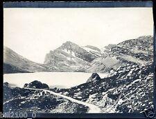 PHOTO ANCIENNE VERS 1885/1890.SUISSE. lac de Dauben . La Gemmi . le Daubenhorn