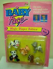 #1714 NRFC Vintage Galoob Baby Face Magic Diaper Babies Pets