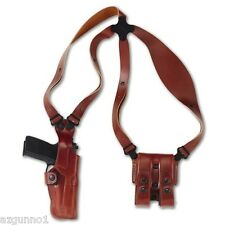 """Galco Vertical Shoulder Holster, Ambi Tan for 1911's, 4"""" VHS266"""