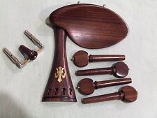 Old Violin Shop Fitting Set Rosewood  Vemeer and Gold Fluer De Lay tailpiece
