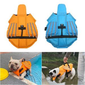 Pet Dog Life Jacket Reflective Safety Vest Swimsuit Breathable Adjustable XS-XXL