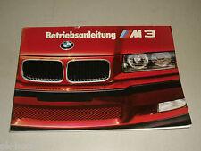 Betriebsanleitung Handbuch BMW Motorsport 3er E 36 M3, Stand 08/1992