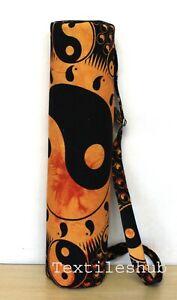 Indian Handmade Large Yoga Mat Carrier Bag Yin Yang Yoga Bag With Shoulder Strap