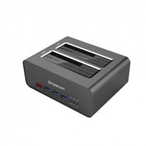 Simplecom SD352 USB 3.0 to Dual SATA Aluminium Docking Station USB Hub