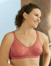 Glamorise Bra 50a 50b 50 A-b Stretch Leisure Wirefree Soft Cup 1810 Coral