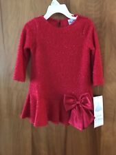 Rare Editions Long Sleeve Red Party  Dress Girl's Size 2T/2  NWT $52.