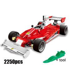 Red Ferrari Sports Car Building Blocks Kids Toy Racing Vehicle Bricks 2250pcs