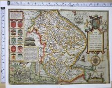 Map Of England Counties 1600s.John Speed County Map Antique Wall Maps For Sale Ebay