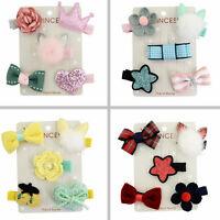 5X Toddler Bow Hair Cute Mini Clip Star Barrettes Baby Hairpins Clips