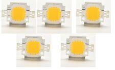 Lot de 5 x LEDs x 10W High Power LED Haute puissance DC 9 - 12V 800 - 900lm
