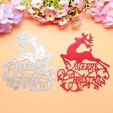 Merry Christmas Deer Memory Box cutting Dies DIY Scrapbooking Album Cards Carft