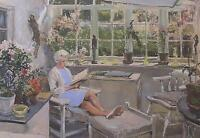 John Strickland Goodall Original Watercolour Painting Of The Artist's Wife