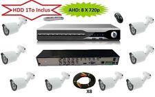 Serveur Video Surveillance AHD H264 HDD 1000 Go  8 CAMERAS 720p Haute définition
