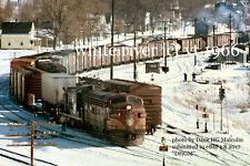 Boston & Maine RR 4265 White River Junction 1967 b&W
