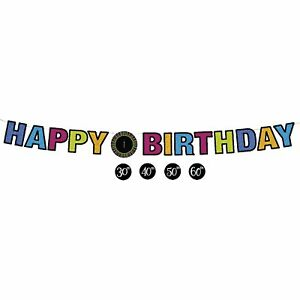 One More Candle Over the Hill Adult Birthday Party Decoration Jointed Banner