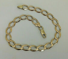 "9ct Gold 8 3/4"" Plain Curb Link Bracelet.  Goldmine Jewellers."