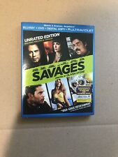 Savages Blu Ray And DVD Combo Pack Blu-Ray Movie With Slipcover Slip Cover