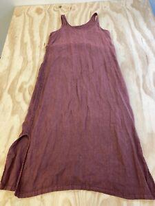 CYNTHIA ASHBY WOMEN SIZE MEDIUM RED LINEN SLEEVELESS DRESS EUC
