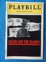 Death And The Maiden - Brooks Atkinson Theatre Playbill - April 1992 - Close