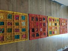 4Rajasthani Indian Wall Hanging Embroidery Patchwork Cushion Covers Bargain GIFT