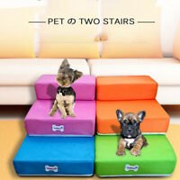 Breathable Mesh Foldable Pet Stairs Detachable Bed Stairs Dog Ramp 2 Steps PAN