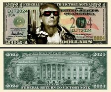 Terminator Trump 2024 Dollar Bill Play Funny Money Novelty Note + Free Sleeve